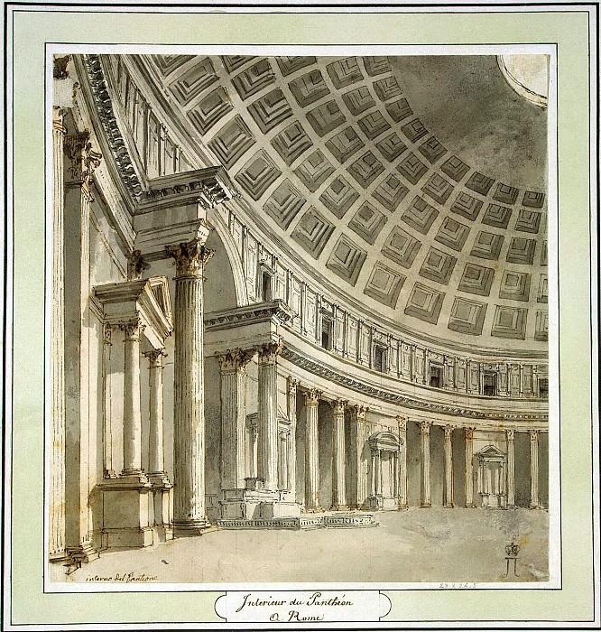 Клериссо, Шарль-Луи - Интерьер Пантеона в Риме. Эрмитаж ~ часть 6