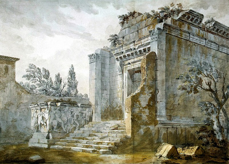 Klerisso, Charles-Louis - Temple of Bacchus in the palace of Diocletian in Split. Hermitage ~ part 06