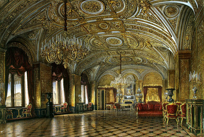Kolb, Alexander Khristoforovich - Types of rooms of the Winter Palace. Golden Living. Hermitage ~ part 06