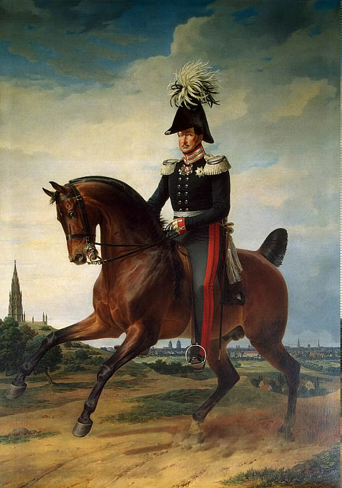 Kruger Franz - Portrait of Frederick William III on horseback. Hermitage ~ part 06
