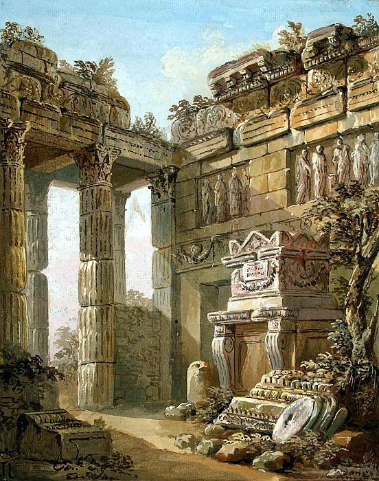 Klerisso, Charles-Louis - Architectural Fantasy (13). Hermitage ~ part 06
