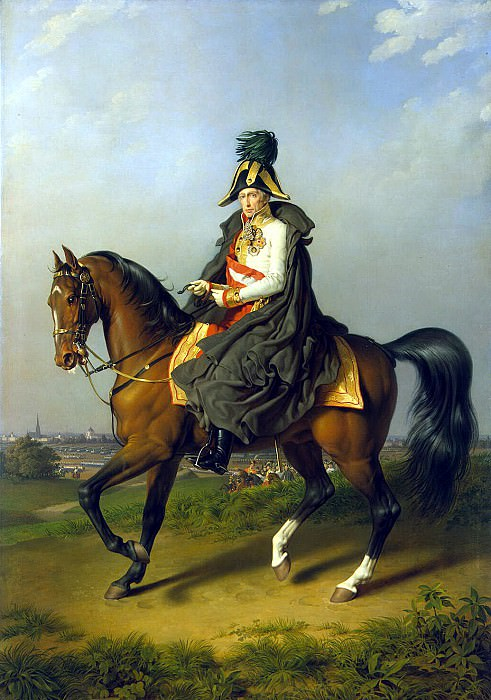 Kraft, Peter Johann - Portrait of Francis I on horseback. Hermitage ~ part 06