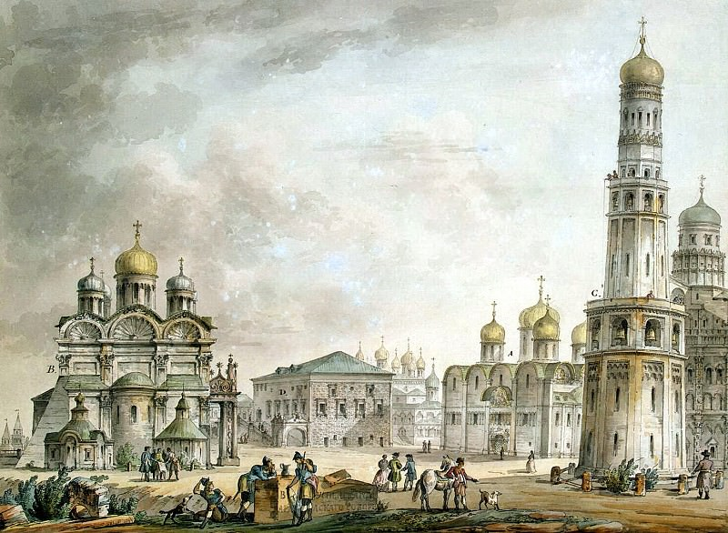 Quarenghi, Giacomo - Cathedral Square in the Moscow Kremlin. Hermitage ~ part 06