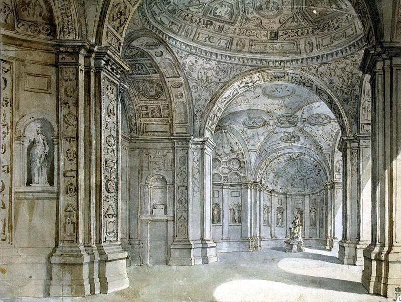 Klerisso, Charles-Louis - View of the lobby villa Madama. Hermitage ~ part 06