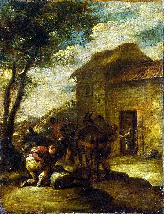 Castillo, Antonio del - packing mules. Hermitage ~ part 06