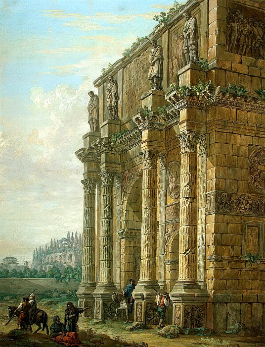 Klerisso, Charles-Louis - Arch of Constantine in Rome. Hermitage ~ part 06