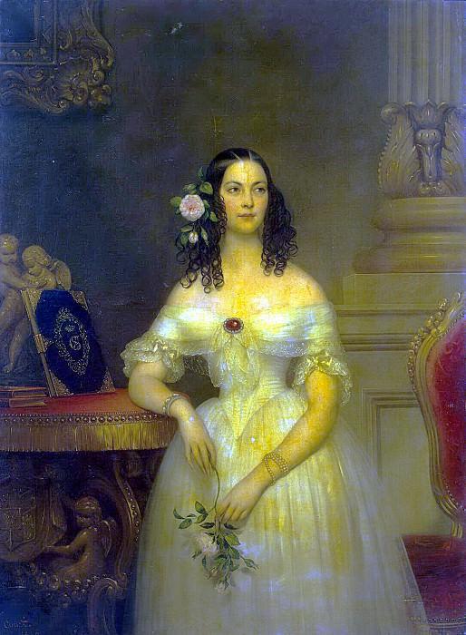 Cours, Joseph-Desire - Portrait of Catherine Alexeevna Scherbatova. Hermitage ~ part 06