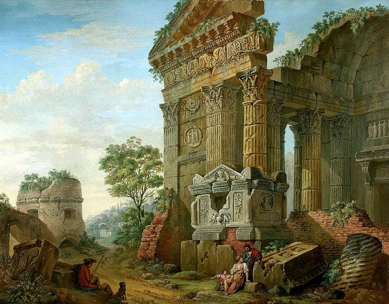 Klerisso, Charles-Louis - Architectural Fantasy (5). Hermitage ~ part 06