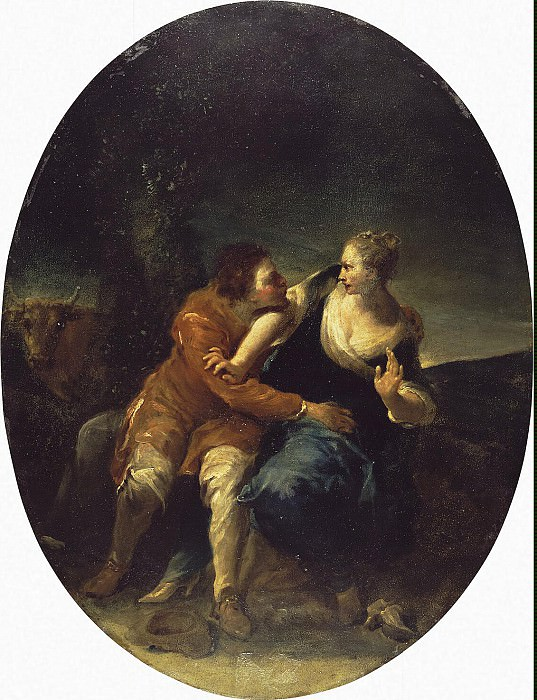 Crespi, Giuseppe Maria - Genre Scene persistent Cavalier. Hermitage ~ part 06