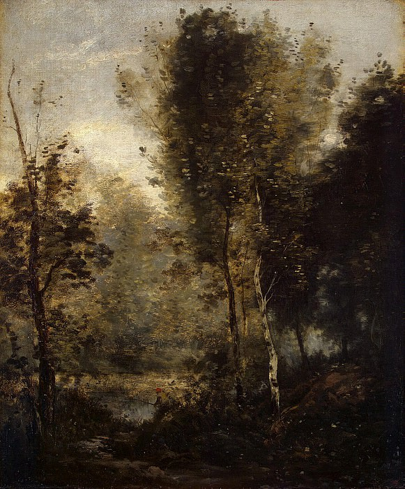 Corot, Jean-Baptiste Camille - Pond in the thicket. Hermitage ~ part 06