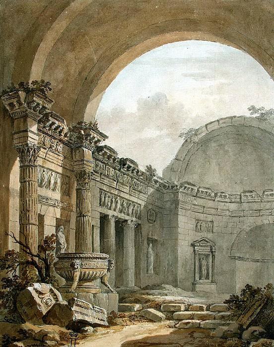 Klerisso, Charles-Louis - Architectural Fantasy (12). Hermitage ~ part 06