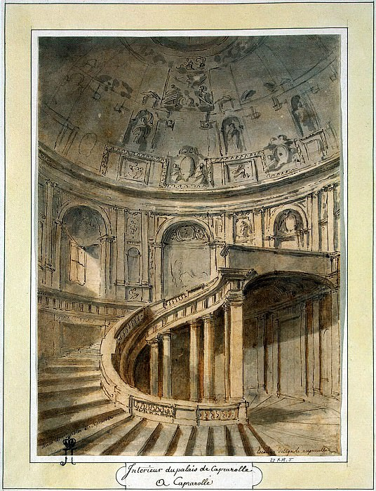 Klerisso, Charles-Louis - Staircase Farnese Palace in Caprarola. Hermitage ~ part 06
