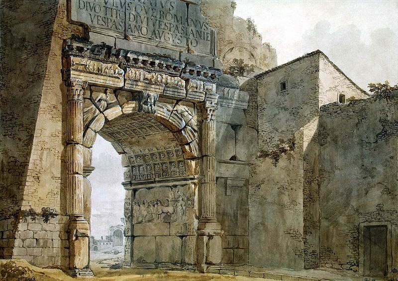 Klerisso, Charles-Louis - Arch of Titus in Rome. Hermitage ~ part 06