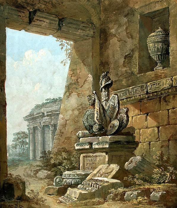 Klerisso, Charles-Louis - Architectural Fantasy (15). Hermitage ~ part 06