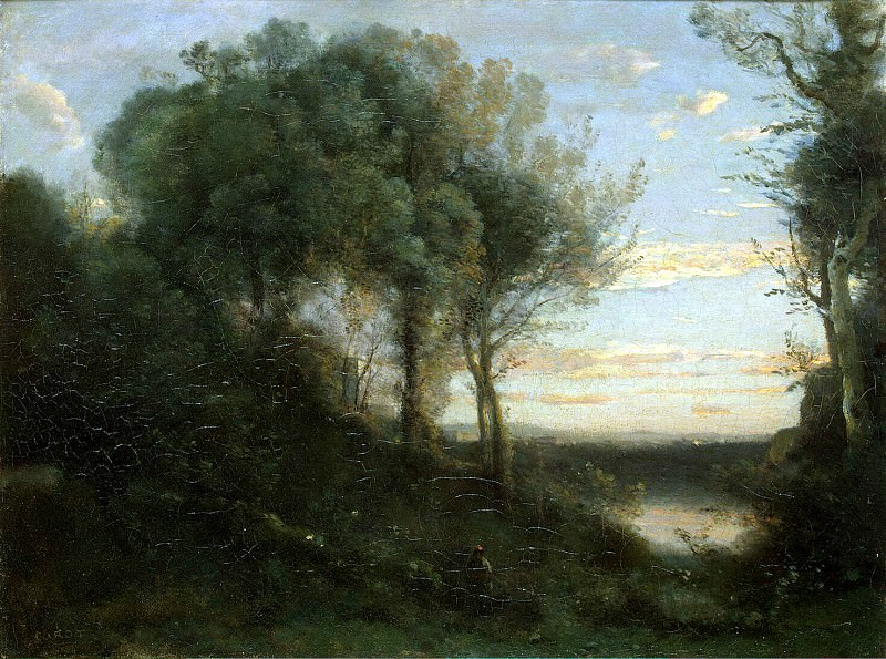 Corot, Jean-Baptiste Camille - Evening. Hermitage ~ part 06