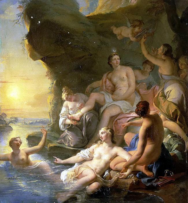 Coypel, Noel Nicola - Diana Bathing. Hermitage ~ part 06