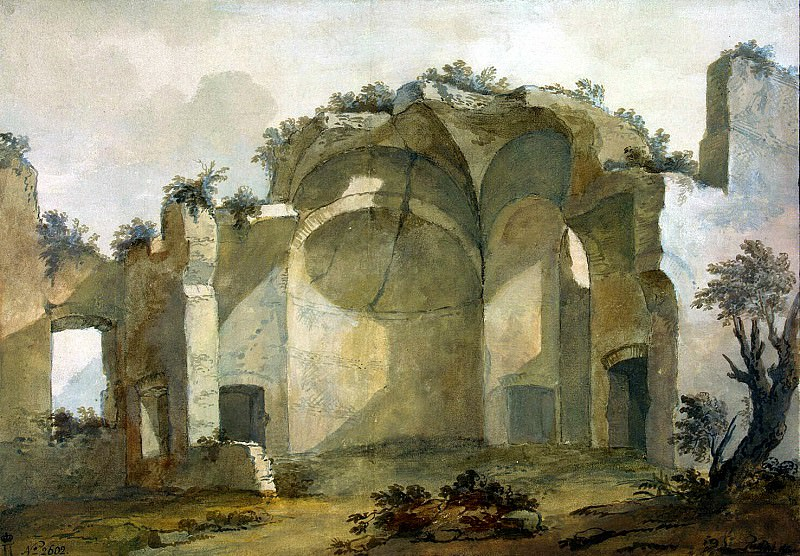 Klerisso, Charles-Louis - Ruins of one of the buildings of the villa of Emperor Hadrian in Tivoli. Hermitage ~ part 06