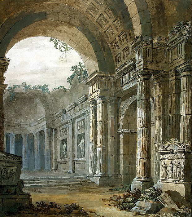Klerisso, Charles-Louis - Architectural Fantasy (10). Hermitage ~ part 06