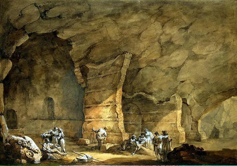 Klerisso, Charles-Louis - Grotto of Tiberius on Capri. Hermitage ~ part 06