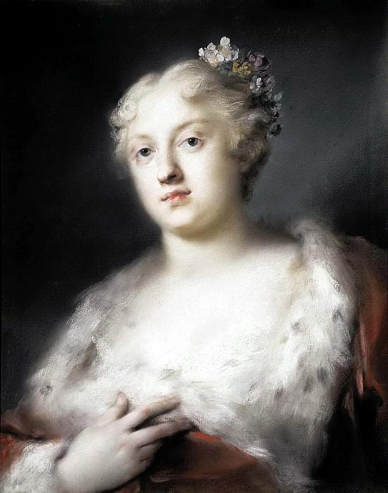 Каррьера, Розальба - Портрет молодой дамы в платье, отороченном мехом. Эрмитаж ~ часть 6