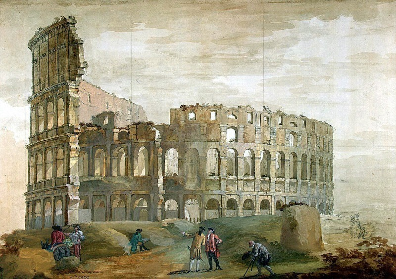 Klerisso, Charles-Louis - View of the Colosseum in Rome (2). Hermitage ~ part 06