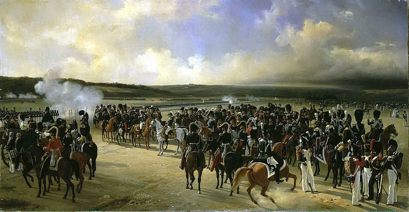 Ladyurner Adolf Ignatevich - Parade of French troops in the presence of King Charles X in October 1829. Hermitage ~ part 06
