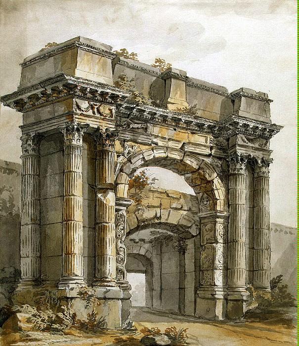 Klerisso, Charles-Louis - Triumphal Arch in Pola. Hermitage ~ part 06