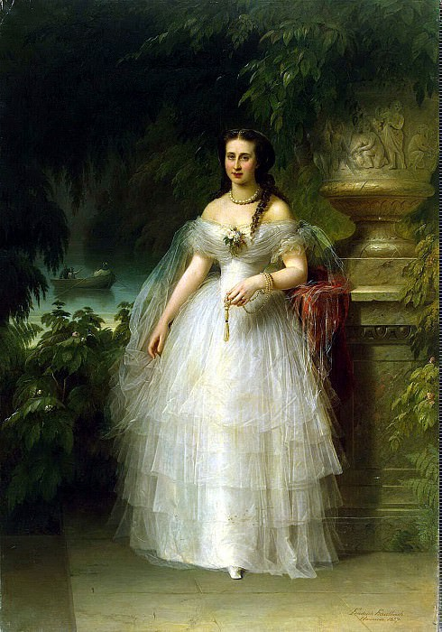 Kaulbach, Friedrich August von - Portrait of Grand Duchess Alexandra Iosifovna. Hermitage ~ part 06