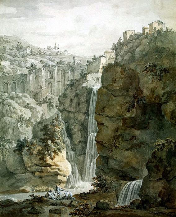 Klerisso, Charles-Louis - Waterfall in Tivoli. Hermitage ~ part 06
