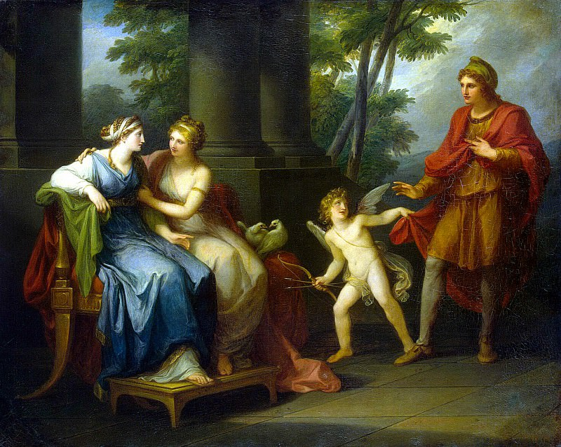 Kaufmann, Angelica - Venus convinces Helen to love Paris. Hermitage ~ part 06