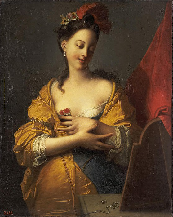 Courtin, Jacques-Francois - Young Woman in front of mirror. Hermitage ~ part 06