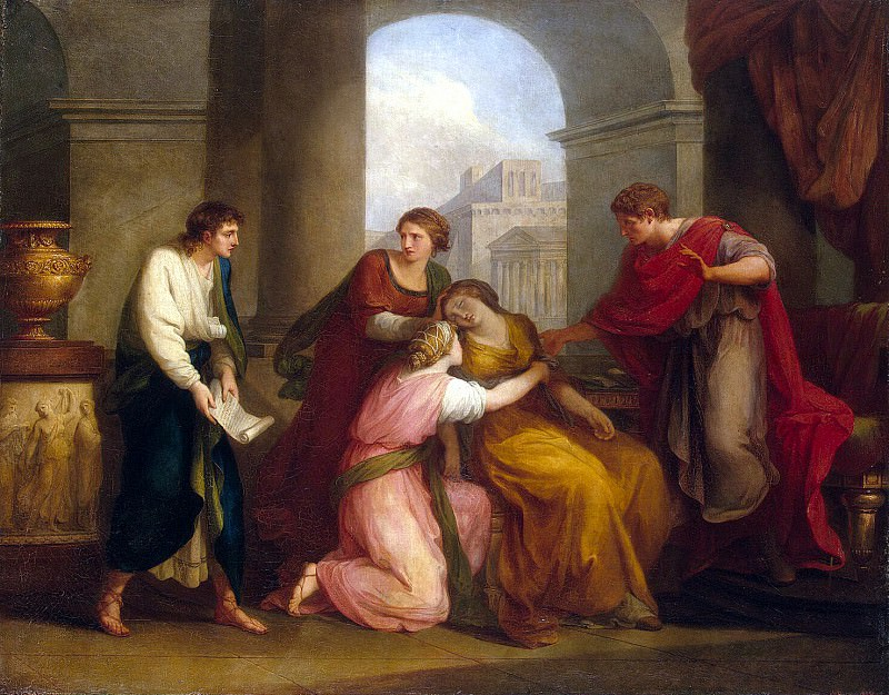 Kaufmann, Angelica - Virgil reading the Aeneid Octavia and Octavian-Augustus. Hermitage ~ part 06