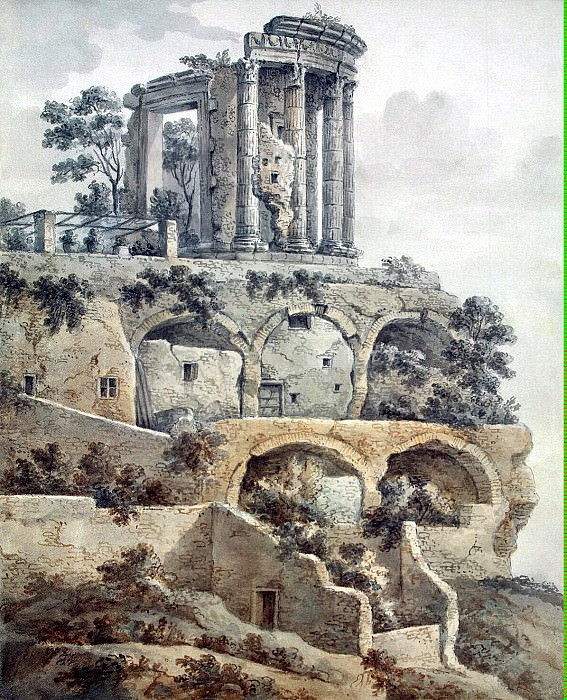 Klerisso, Charles-Louis - Temple of Sibyl in Tivoli. Hermitage ~ part 06