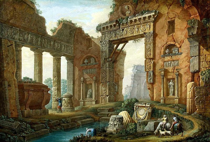 Klerisso, Charles-Louis - Architectural Fantasy. part 06 Hermitage