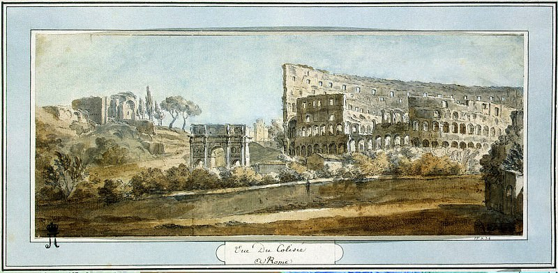 Klerisso, Charles-Louis - View of the Colosseum in Rome. Hermitage ~ part 06