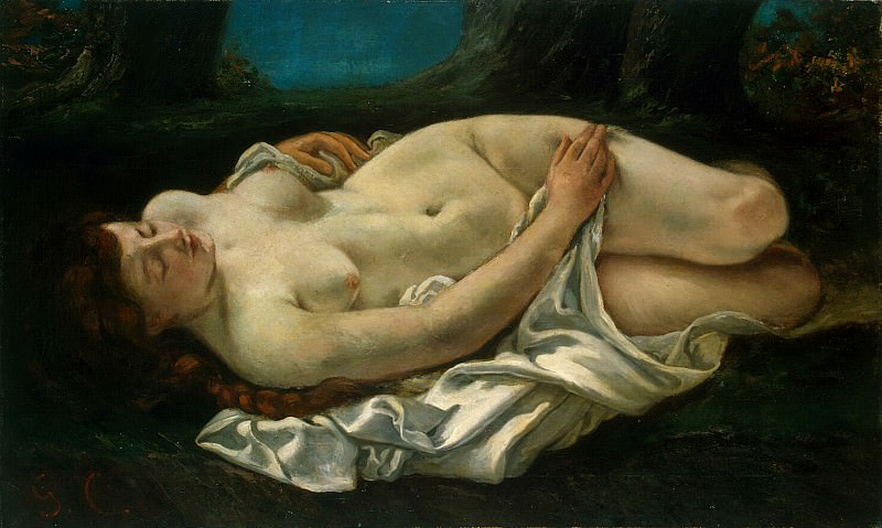 Courbet, Gustave - reclining woman. Hermitage ~ part 06