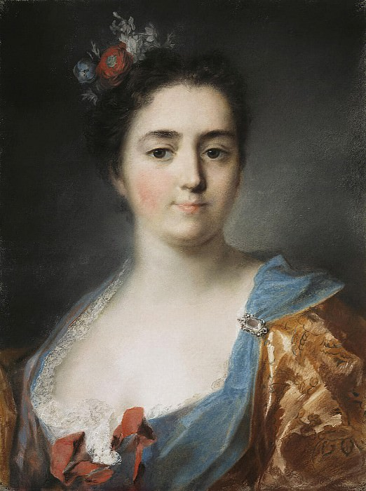 Carriera, Rosalba - Portrait of a young lady. Hermitage ~ part 06