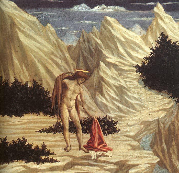 Венециано, Доменико (итальянец, 1410-1461) - Иоанн Креститель в пустыне. Итальянские художники