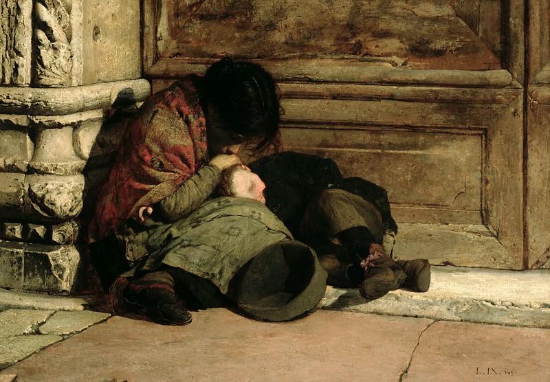 Nono, Luigi (Italian, 1850-1918) - Abandoned. The Italian artists