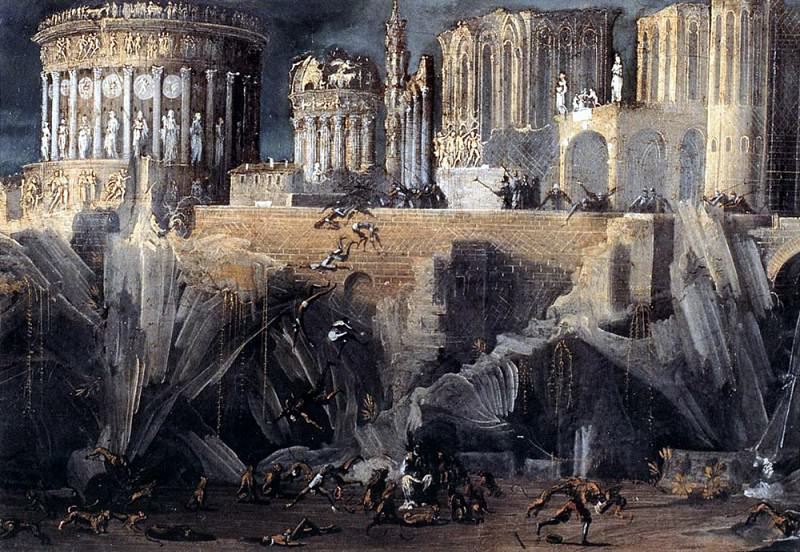 Франсуа де НОМЭ - Вид фантастической архитектуры. Итальянские художники