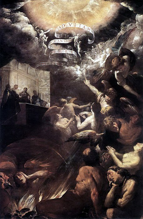 CRESPI Giovanni Battista St Gregory Delivers The Soul Of A Monk. The Italian artists