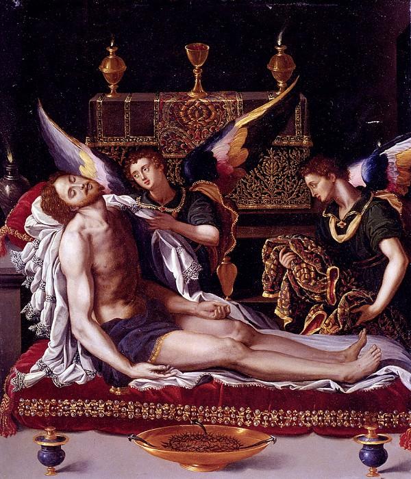 Аллори, Алессандро - Мёртвый Христос и два присутствующих ангела. Итальянские художники