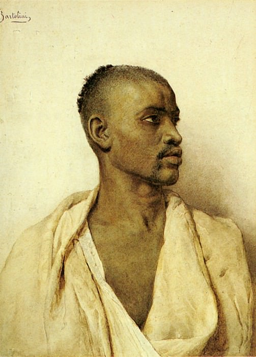 Bartolini Frederico Portrait Of An Arab Man. The Italian artists