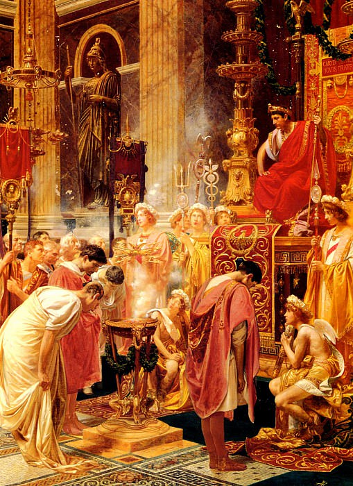 Pigna Alessandro Paying Homage To The Emperor. Итальянские художники