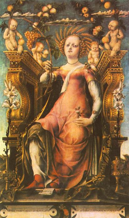 MICHELE PANNONIO Ceres Enthroned. The Italian artists