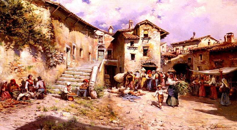 Barbasan Mariano Vista Rural De Los Al Rededores De Un Pueblo De Roma. The Italian artists