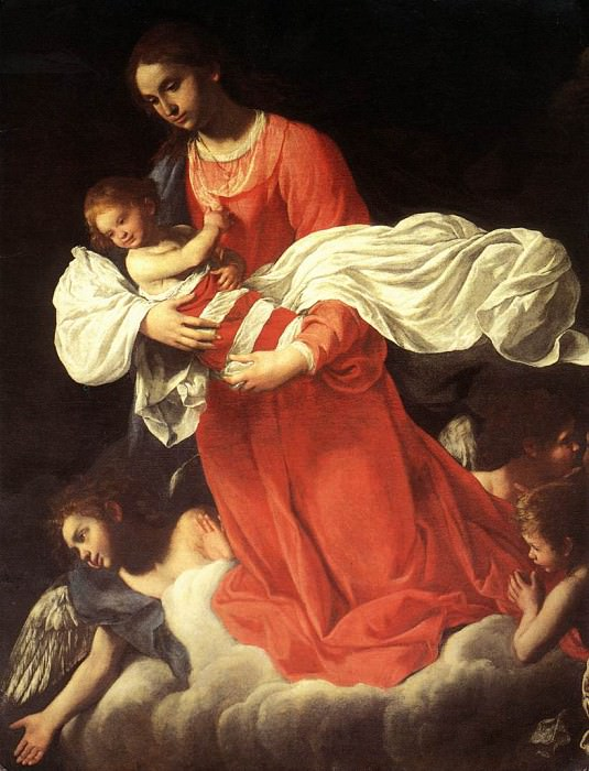 BAGLIONE Giovanni The Virgin And The Child With Angels. The Italian artists