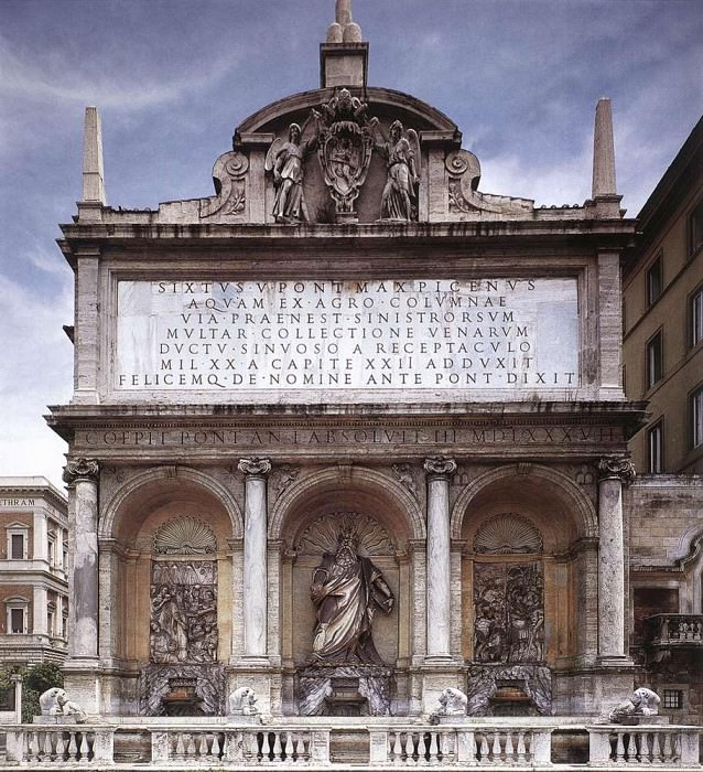 FONTANA Domenico Fontana Dell Acqua Felice. Итальянские художники