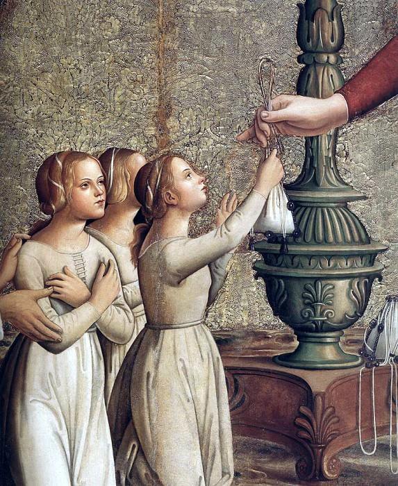 ANTONIAZZO ROMANO Annunciation detail. Итальянские художники