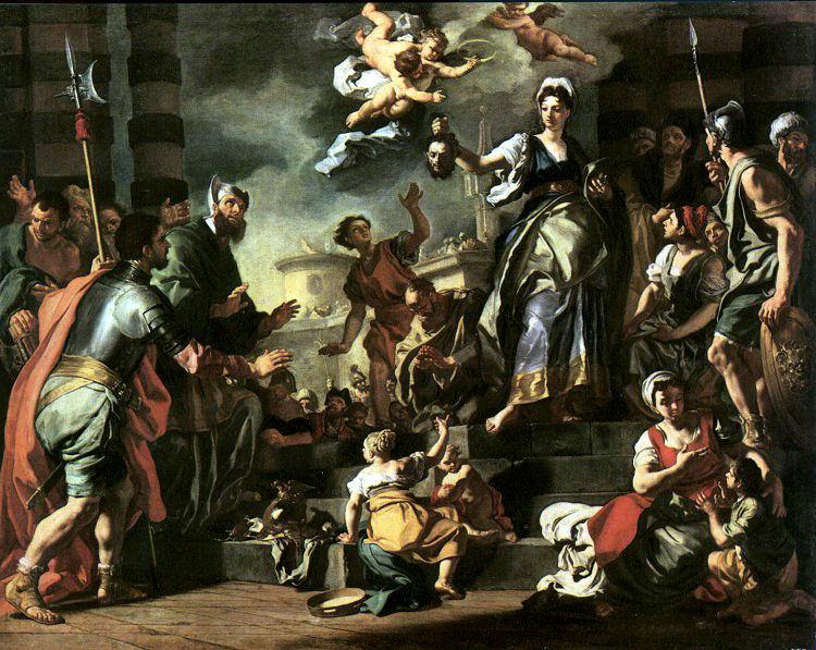 Solimena, Francesco (Italian, 1657-1747). The Italian artists